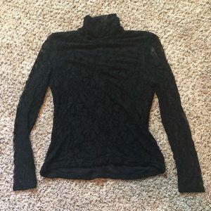 Long sleeve black lace